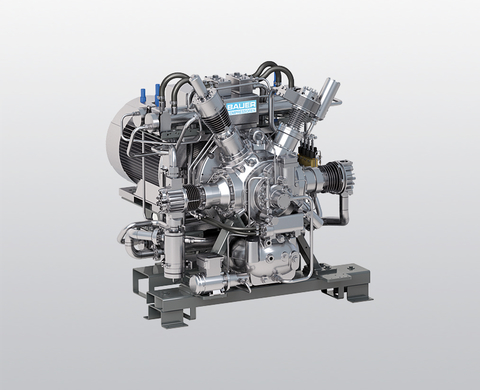 BAUER I 26 water-cooled, high-pressure compressor