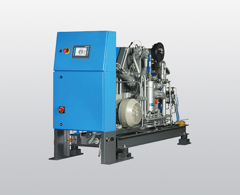 Compressor unit G 22.x for helium and argon